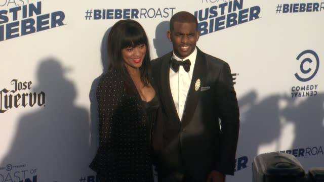 Chris Paul and Jada Crawley at The Comedy Central Roast Of Justin Bieber at Sony Studios on March 14 2015 in Los Angeles California