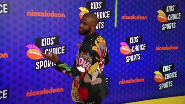 Chris Paul at the Nickelodeon's Kids' Choice Sports 2018 at Barker Hangar on July 19 2018 in Santa Monica California