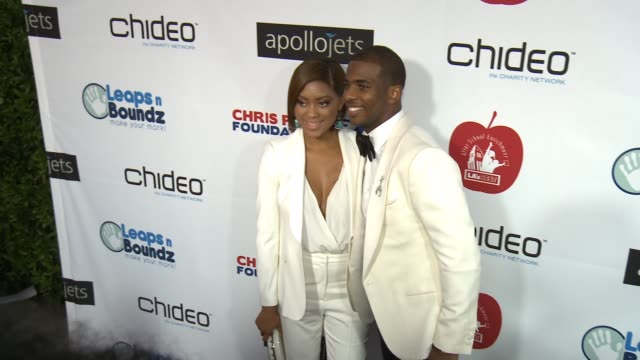 Chris Paul Jada Crawley at The CP3 Foundation's Celebrity Server Dinner Hosted By Chris Paul in Los Angeles CA