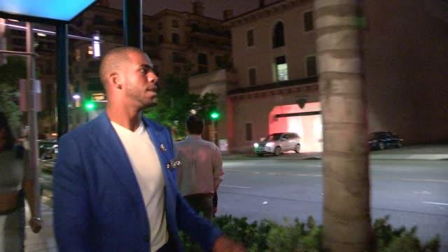 Chris Paul Jada Crawley departing Mastro`s in Beverly Hills in Celebrity Sightings in Los Angeles