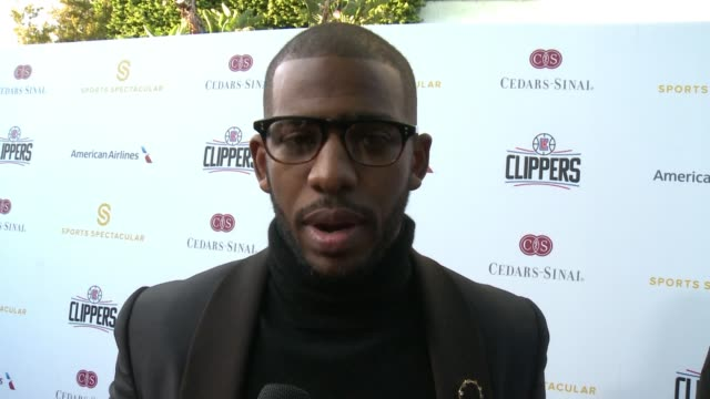 INTERVIEW Chris Paul on the Sports Spectacular athletes being role models health and fitness at 31st Annual CedarsSinai Sports Spectacular in Los...