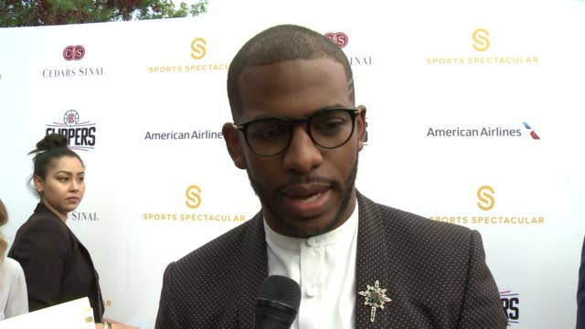 INTERVIEW Chris Paul on tonight's event why it's an important event at 32nd Annual CedarsSinai Sports Spectacular in Los Angeles CA