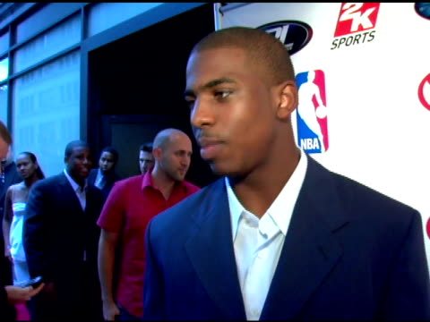 Chris Paul the evening's host and NBA Rookie of the Year on his foundation CP3 giving back the draft without high schoolers the dress code and his...