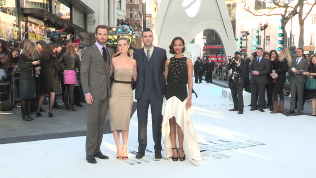 Chris Pine Alice Eve Zachary Quinto and Zoe Saldana at the Star Trek Into Darkness UK Premiere 2nd of May 2013
