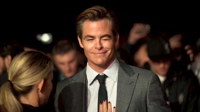 capsule chris pine at 'outlaw king' european premiere 62nd bfi london film festival on october 17 2018 in london england - ming stock videos & royalty-free footage
