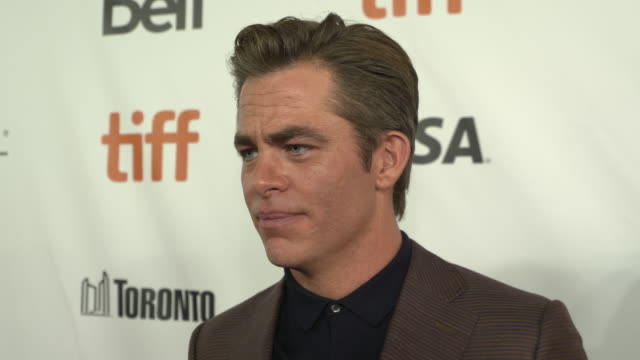 INTERVIEW Chris Pine at Outlaw King TIFF 2018 Opening Night Red Carpet at Roy Thomson Hall on September 06 2018 in Toronto Canada