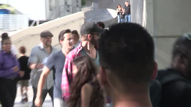 Chris Pine enters the LA Kings vs NY Rangers Game 5 Stanley Cup Finals at the Staples Center in Los Angeles Celebrity Sightings in Los Angeles on...