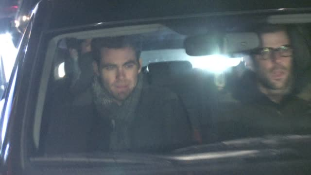chris pine zachary quinto at pre oscar party in bel air at the celebrity sightings in los angeles at los angeles ca - zachary quinto stock videos and b-roll footage