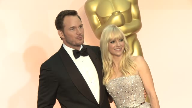 Chris Pratt and Anna Faris at the 87th Annual Academy Awards Arrivals at Dolby Theatre on February 22 2015 in Hollywood California