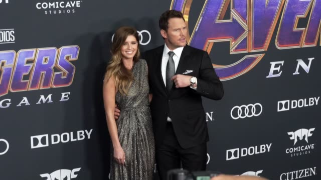 Chris Pratt and Katherine Schwarzenegger at the World Premiere of Marvel Studios' 'Avengers Endgame' at Los Angeles Convention Center on April 22...