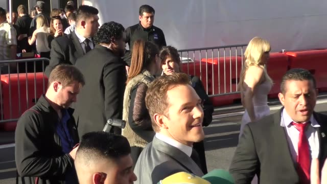 chris pratt & anna faris arriving to the guardians of the galaxy 2 premiere at dolby theatre in hollywood in celebrity sightings in los angeles, - the dolby theatre stock videos & royalty-free footage