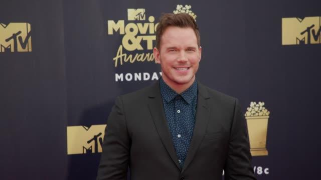 Chris Pratt at 2018 MTV Movie TV Awards Arrivals at Barker Hangar on June 16 2018 in Santa Monica California