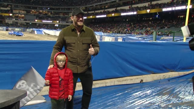 Chris Pratt at Monster Jam Celebrity Event at Angel Stadium on January 12 2019 in Anaheim California