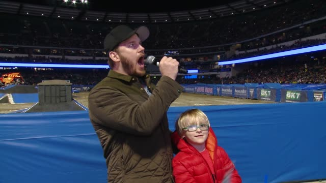 SPEECH Chris Pratt at Monster Jam Celebrity Event at Angel Stadium on January 12 2019 in Anaheim California