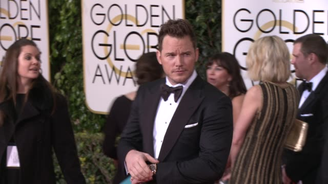 Chris Pratt at the 72nd Annual Golden Globe Awards Arrivals at The Beverly Hilton Hotel on January 11 2015 in Beverly Hills California