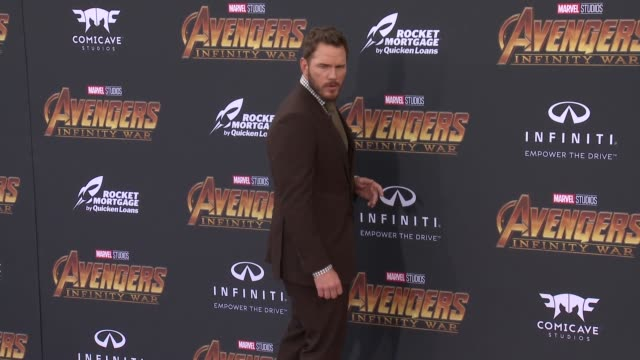 Chris Pratt at the Avengers Infinity War World Premiere on April 23 2018 in Hollywood California
