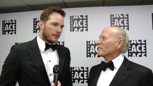 INTERVIEW Chris Pratt Frank Marshall on the event at 65th Annual ACE Eddie Awards in Los Angeles CA