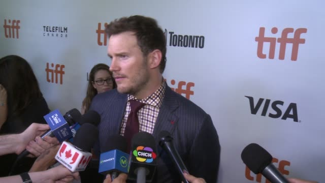 interview chris pratt on opening tiff if there was pressure to remake this film the most difficult part of making this movie the most fun part of... - toronto international film festival stock videos and b-roll footage