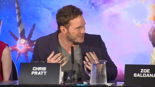 chris pratt on seducing femaliens with help from lionel richie and choreographing his smooth dance moves at 'guardians of the galaxy' press... - lionel richie stock videos & royalty-free footage