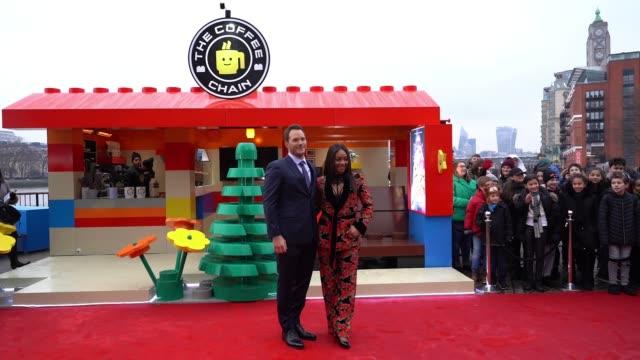 chris pratt, tiffany haddish opens lego pop-up cafe 'the coffee chain' on february 1, 2019 in london, england. - toronto international film festival stock videos & royalty-free footage