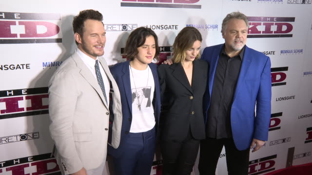chris pratt, vincent d'onofrio, leila george and jake schur at the los angeles special screening of 'the kid' at arclight cinemas on march 06, 2019... - arclight cinemas hollywood stock videos & royalty-free footage