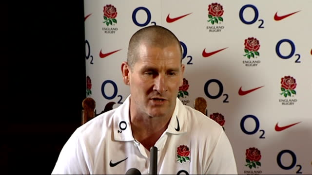 chris robshaw named as new england rugby captain england surrey pennyhill park * warning stuart lancaster [england coach] chris robshaw along into... - croft stock videos & royalty-free footage
