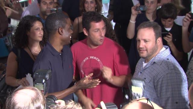 Chris Rock Adam Sandler Kevin James at the Special Screening of 'Grown Ups' at New York NY