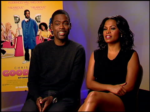 chris rock and nia long on one black guy saying white women are easier to date than black women at the 'good hair' junket at beverly hills ca - nia long stock videos and b-roll footage