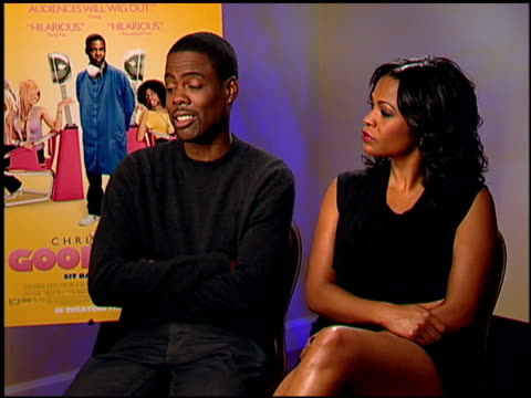 chris rock and nia long on the indian people sacrificing their hair at the temple at the 'good hair' junket at beverly hills ca - nia long stock videos and b-roll footage