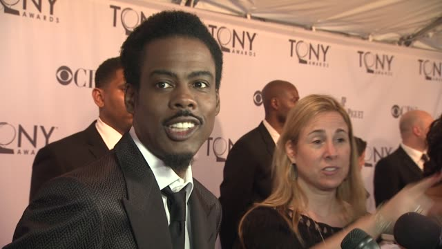 chris rock talks about broadway at the 65th annual tony awards red carpet media room at new york ny - red carpet event stock videos & royalty-free footage
