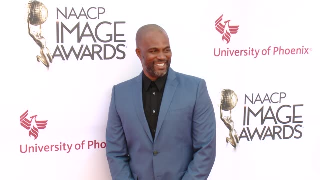 stockvideo's en b-roll-footage met chris spencer at the 46th annual naacp image awards - arrivals at pasadena civic auditorium on february 06, 2015 in pasadena, california. - pasadena civic auditorium