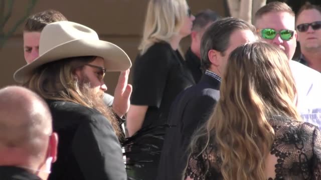 chris stapleton arriving to the 52nd academy of country music awards in celebrity sightings in las vegas, - stapleton stock videos & royalty-free footage