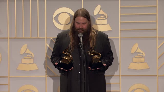 chris stapleton at 58th annual grammy awards® - press room at staples center on february 15, 2016 in los angeles, california. - stapleton stock videos & royalty-free footage
