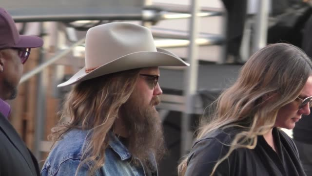 chris stapleton performs on jimmy kimmel live at el capitan theatre in hollywood in celebrity sightings in los angeles, - stapleton stock videos & royalty-free footage
