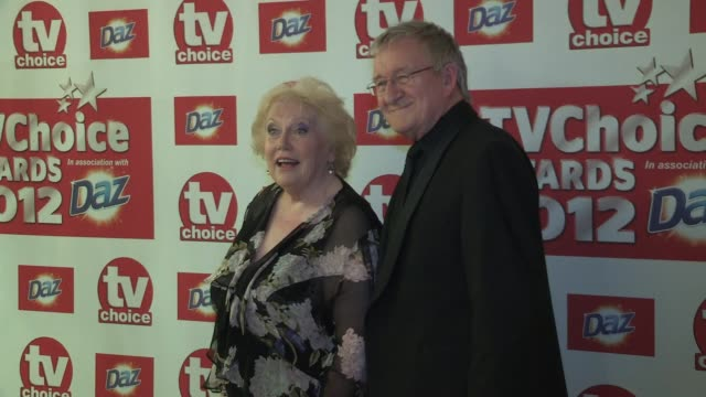 chris steele denise robertson at the tv choice awards 2012 chris steele denise robertson at the dorchester hotel on september 11 2012 in london... - denise robertson stock-videos und b-roll-filmmaterial