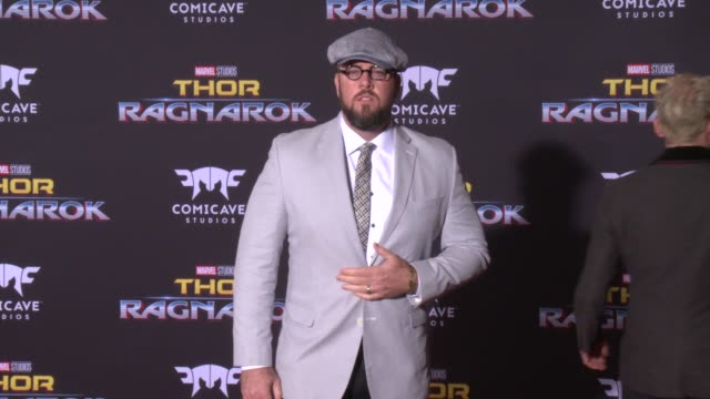 chris sullivan at the thor ragnarok premiere at the el capitan theatre on october 10 2017 in hollywood california - thor: ragnarok stock videos & royalty-free footage