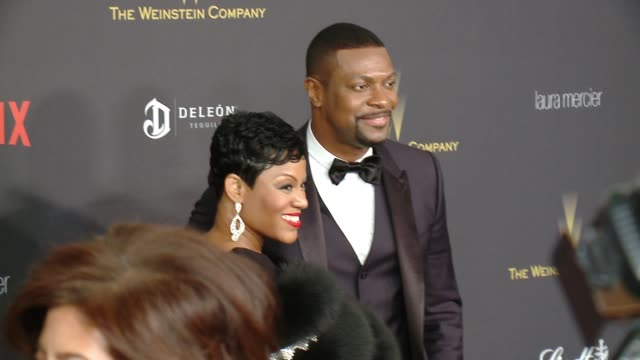 Chris Tucker and Cynne Simpson at Tiny Prints Gratitude Lounge Arrivals At The Weinstein Company Netflix 2016 Golden Globes After Party at Robinsons...