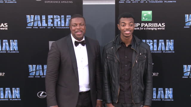 Chris Tucker and Destin Tucker at the 'Valerian and the City of a Thousand Planets' World Premiere at TCL Chinese Theatre on July 17 2017 in...