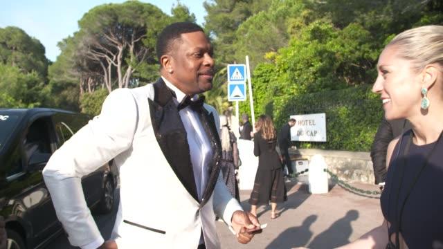 chris tucker at amfar gala cannes 2019 on may 17, 2019 in cap d'antibes, france. - 第71回カンヌ国際映画祭点の映像素材/bロール