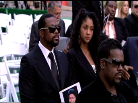 Chris Tucker at the Michael Jackson Laid To Rest at Los Angeles CA