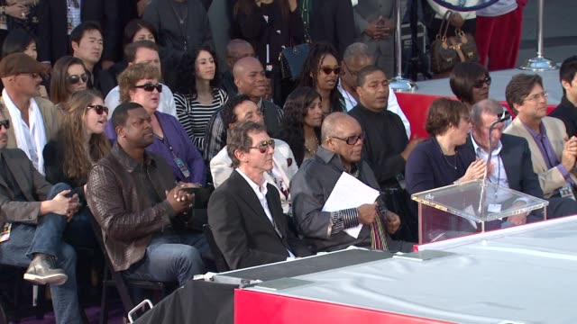 Chris Tucker Quincy Jones and Harry Shum Jr at Michael Jackson Immortalized with Hand and Footprint Ceremony in Hollywood CA on 1/26/2012