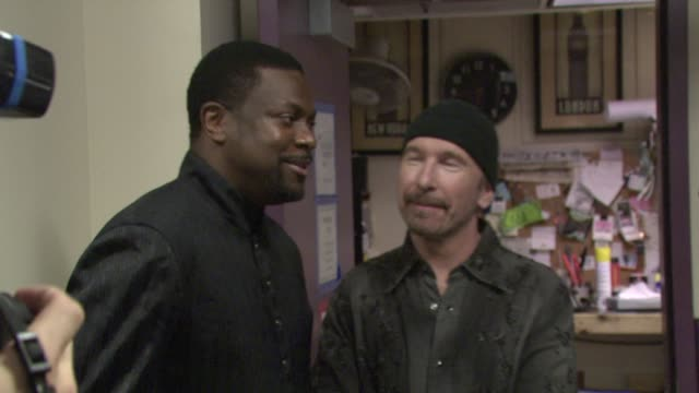 Chris Tucker The Edge Bono at the Thelonious Monk Institute Honors BB King at Los Angeles CA