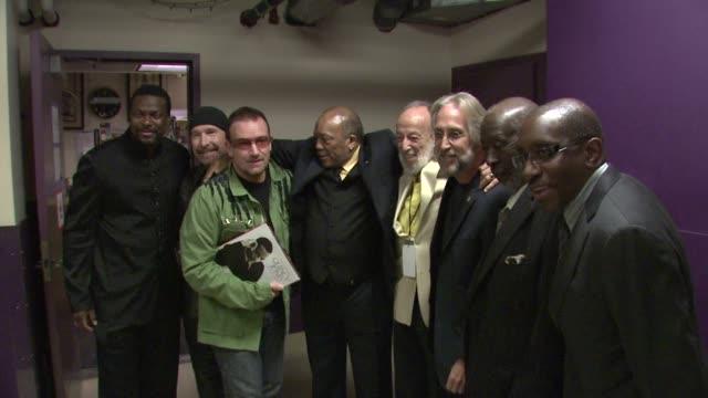 Chris Tucker The Edge Bono Quincy Jones Herman Leonard Neil Portnow at the Thelonious Monk Institute Honors BB King at Los Angeles CA