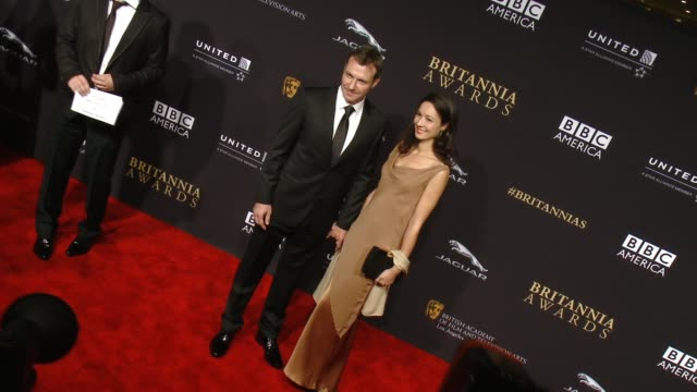Chris Vance and Moon Dailly at the 2014 BAFTA Los Angeles Jaguar Britannia Awards Presented by BBC America and United Airlines in Los Angeles CA on