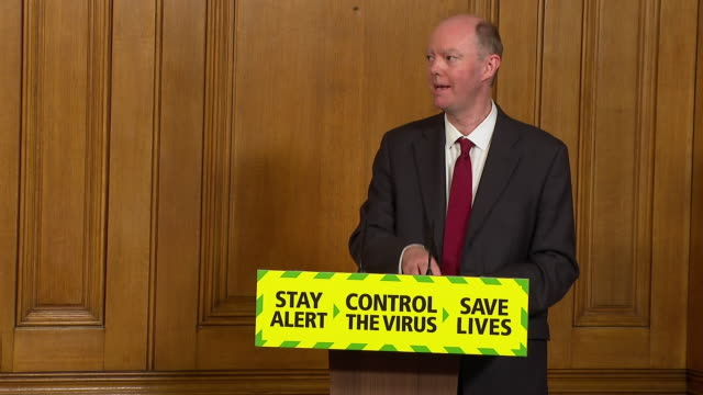chris whitty saying reopening pubs and restaurants is a reasonable package of risks in respect to coronavirus transmission rates - respect stock videos & royalty-free footage