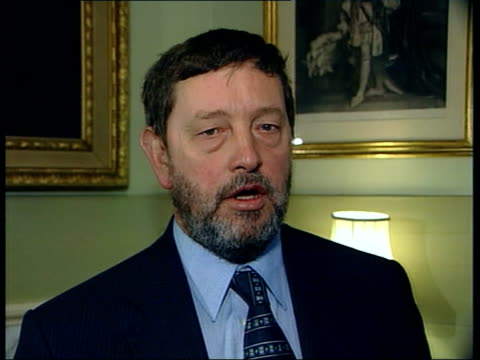 chris woodhead attacks government itn david blunkett mp interviewed sot i think any columnist starting out on a career wants to make their name i... - columnist stock videos & royalty-free footage
