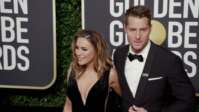 Chrishell Stause and Justin Hartley at the 75th Annual Golden Globe Awards at The Beverly Hilton Hotel on January 07 2018 in Beverly Hills California