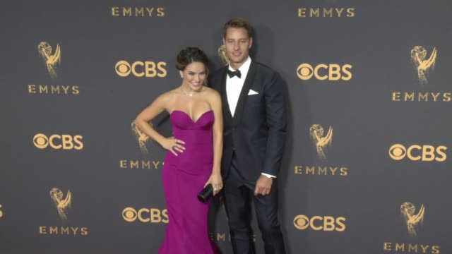 Chrishell Stause Justin Hartley at the 69th Annual Primetime Emmy Awards at Microsoft Theater on September 17 2017 in Los Angeles California