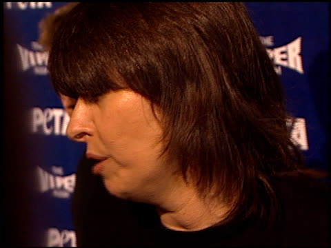 chrissie hynde at the peta 20th anniversary party at viper room in hollywood, california on september 13, 2000. - chrissie hynde stock videos & royalty-free footage