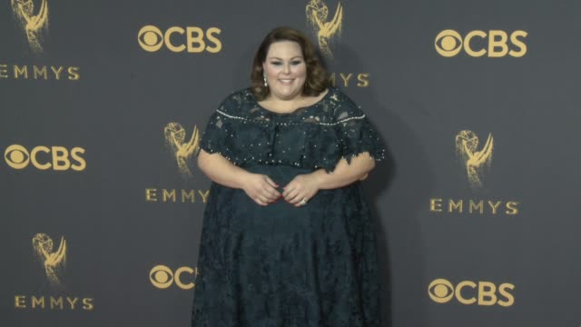 chrissy metz at 69th annual primetime emmy awards in los angeles ca - emmy awards stock-videos und b-roll-filmmaterial